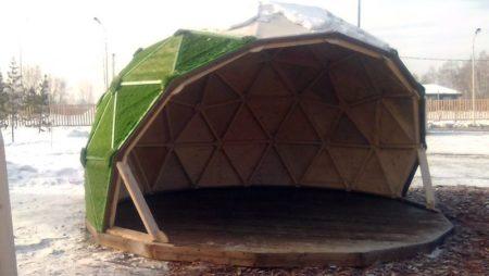 Купольные конструкции на площадке Умной школы, Иркутск