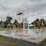 Тентовый купол, диаметр 14м. Танхой, Бурятия